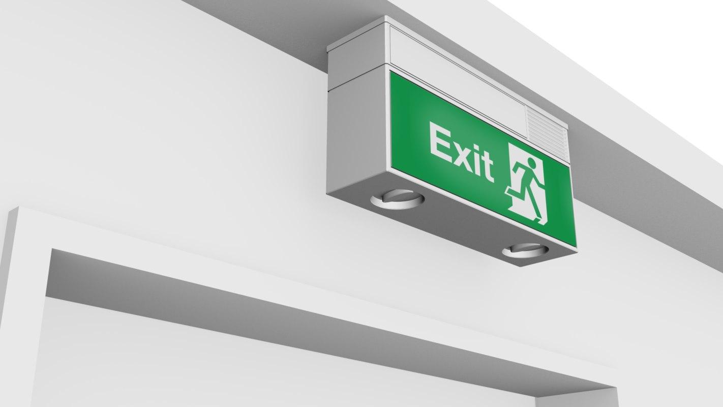 exit light 3ds