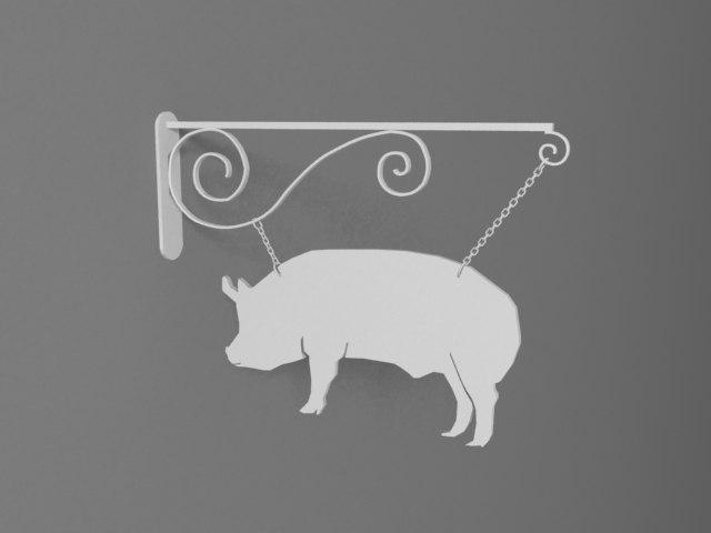 3d pig eye-catcher