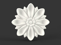 Round Carved Flower
