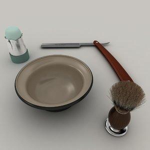 3d model of barber set