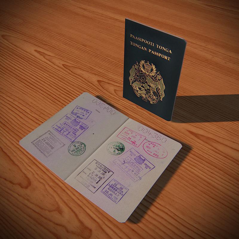 blender tongan passport