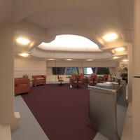 3d conference room starship fictional model