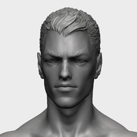 obj zbrush superheroes head