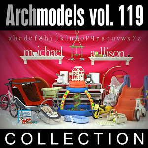 3d model archmodels vol 119 toys