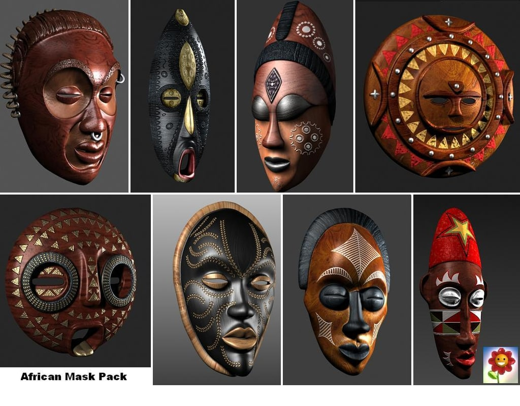 3dsmax pack african mask
