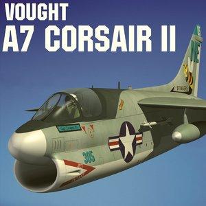 3d model vought a7 corsair ii