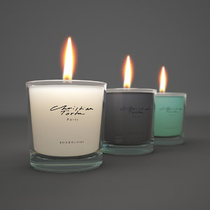 realistic christian tortu candles 3d model