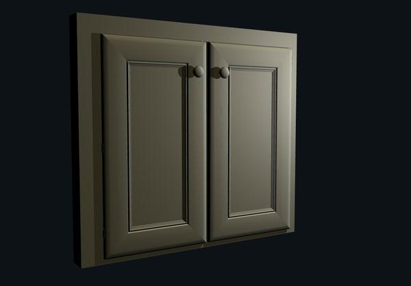 3d interior cabinet model