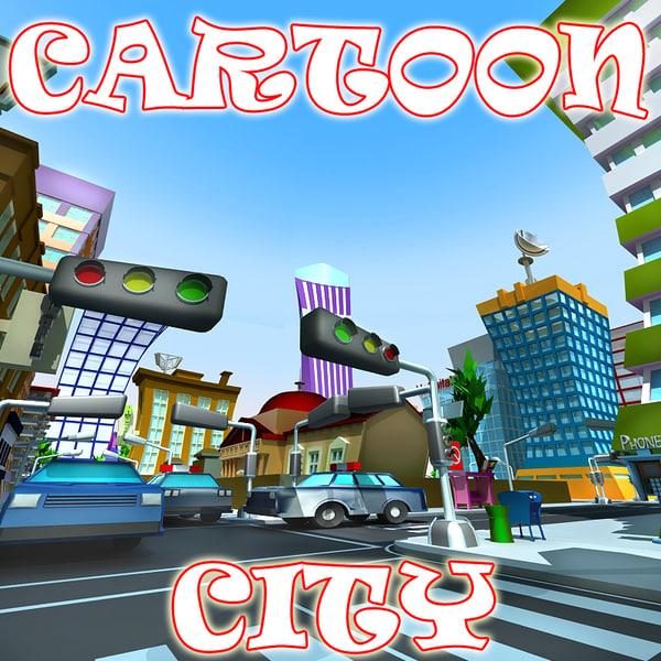 cartoon city 3d max