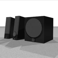 computer speakers 3d model