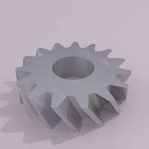 3d model industrial gear