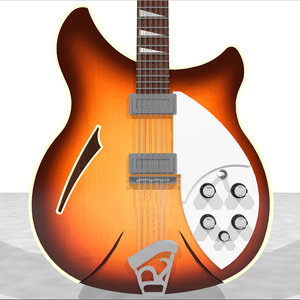 3d guitar electric model