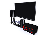 cerwin home theatre 3d obj