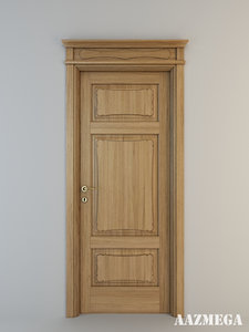 photorealistic legnoform formelle-c-5-31 door 3d 3ds
