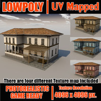 Lowpoly ottoman house LPBldX37