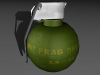 m67 grenade 3d max