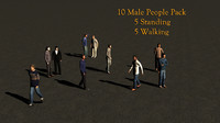 10 People Casual 3d Pack