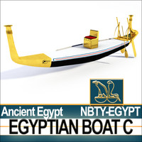 Ancient Egypt Rowboat C Pharaoh Royal Boat