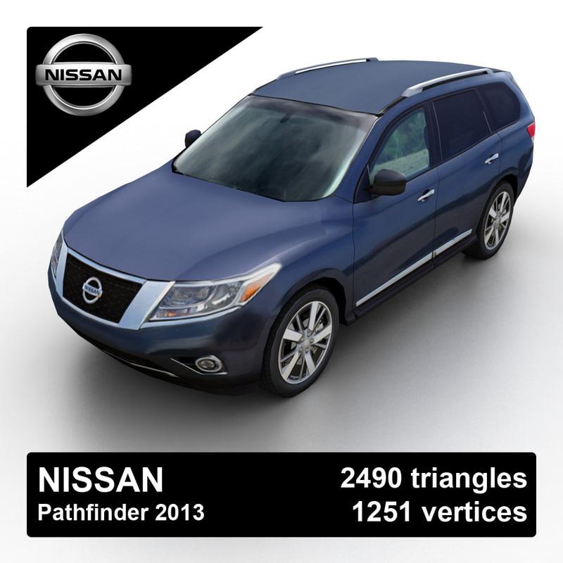 3d model of 2013 nissan pathfinder suv
