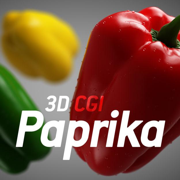 paprika 3d model