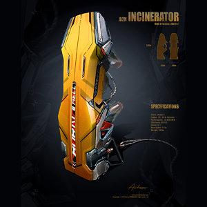 sci fi cryopod futuristic laboratory 3d model