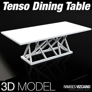 tenso dining table 3d max