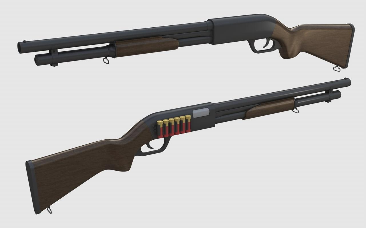 remington 870 3d 3ds