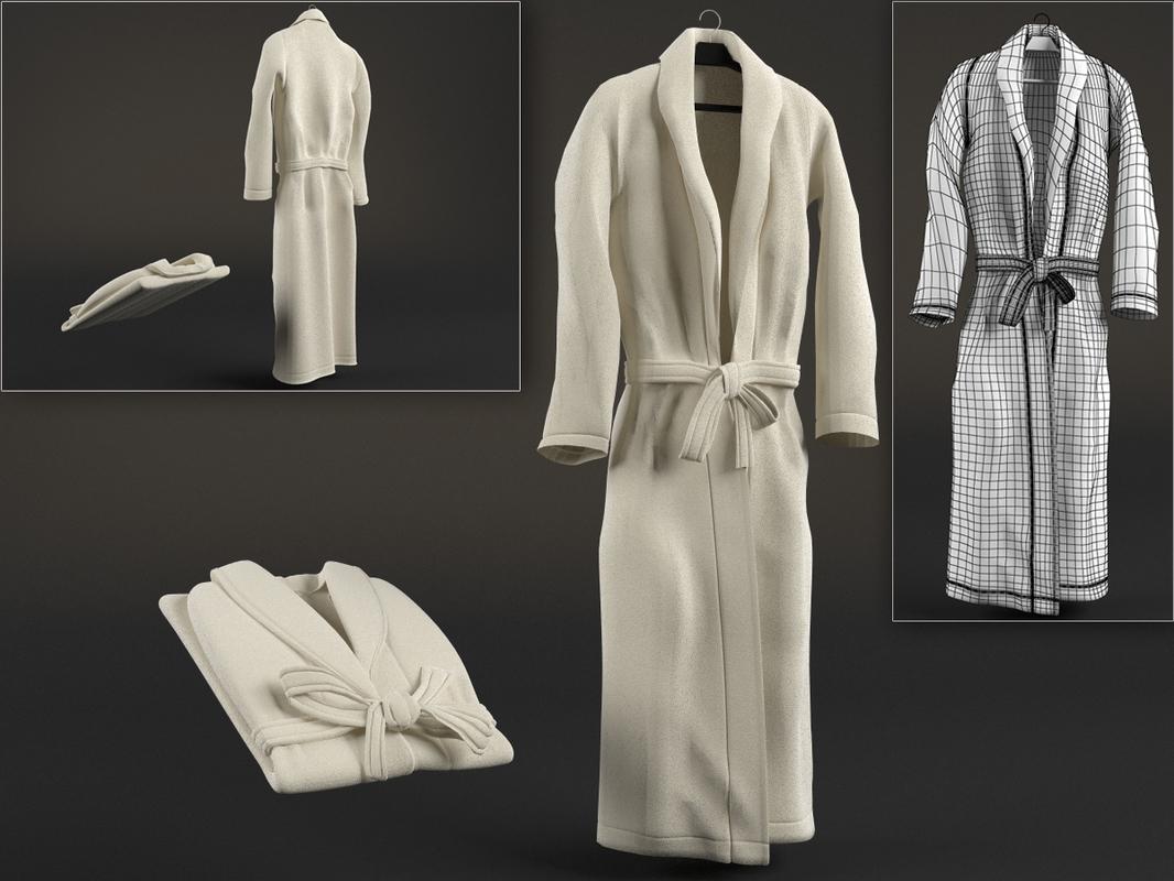 dressing gown 3d obj