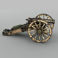 19th century russian cannon 3d model