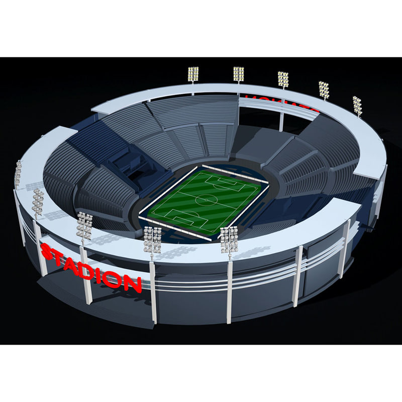 football 3d c4d