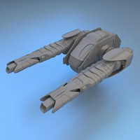 3d energy cannon turret model