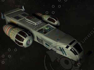 3d xpress fighter spacecraft model