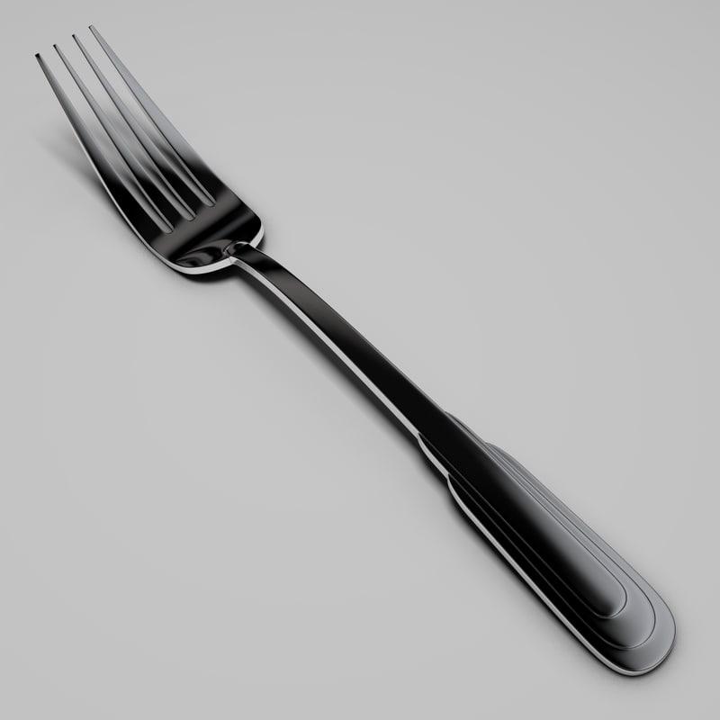 3d model zepter table fork