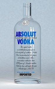 realistic absolut vodka bottle cap 3d max