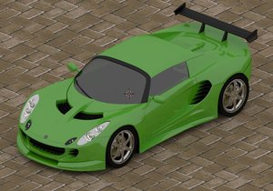 3d elise sport car