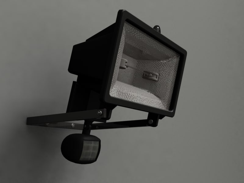 3d flood light model