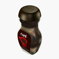 3d retail jar coffee model