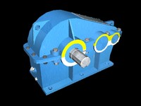 3d model parallel-shaft reduction gear