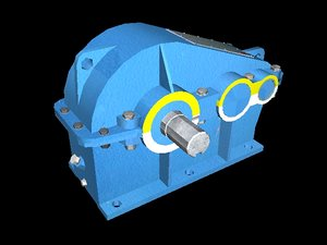 3d model parallel-shaft reduction gear