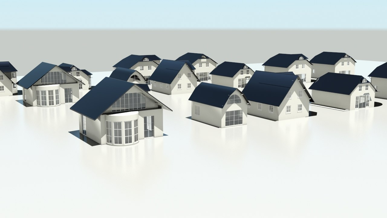 3d model of houses development