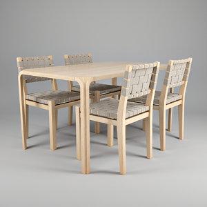 design alvar aalto chair 3ds