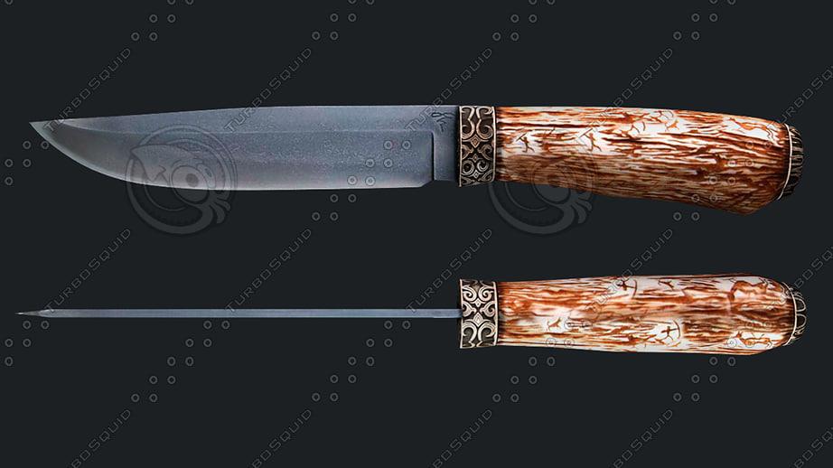 knife kizlyar 3d model