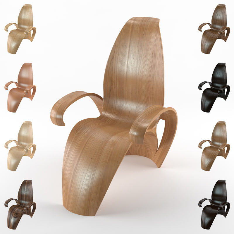 3d cadartet chair leaf