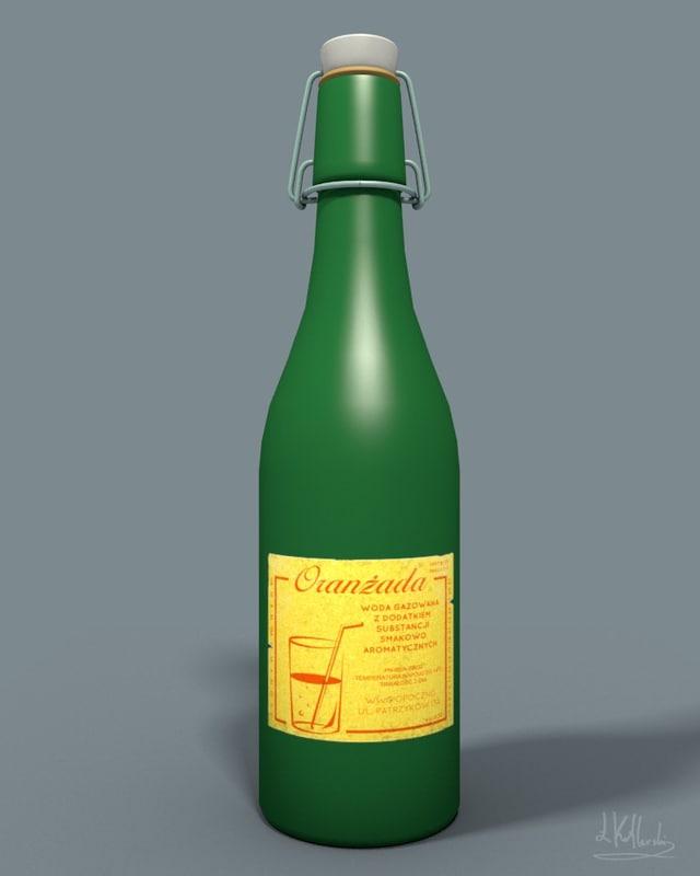 vintage bottle cap 3ds