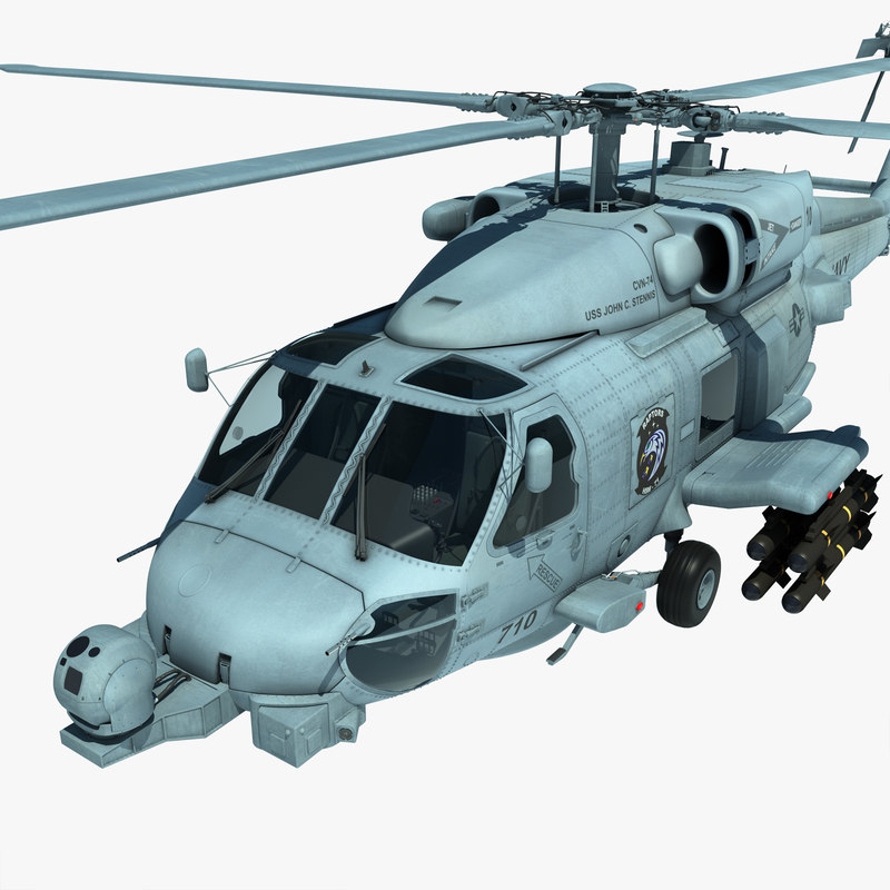 mh-60r military helicopter 3d model
