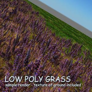 3d grass 02 - flowers model