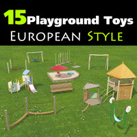 Set of 15 Playground Toys