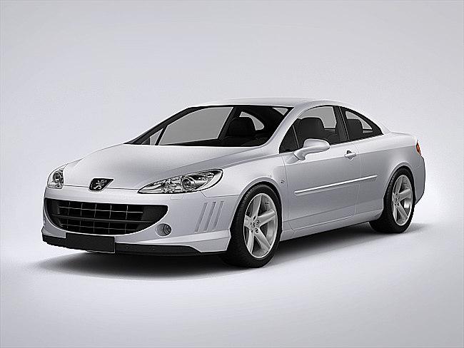 3d peugeot 407 coupe model