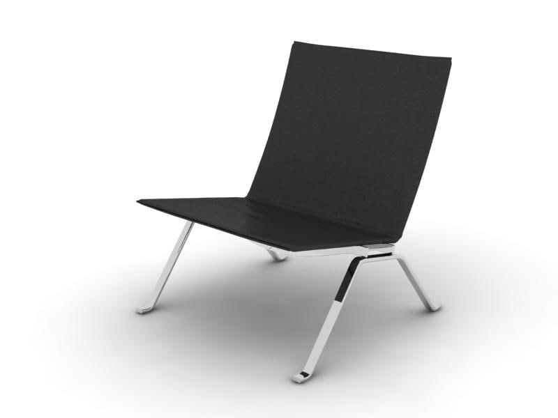pk 22 chair leather 3d model