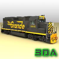 Locomotive EMD GP40-2 DRGW